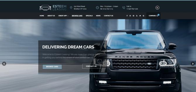 Esteem Leasing Website